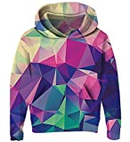 Goodstoworld Teenager Mädchen Hoodie Kinder Jungen Geometric Pullover Coole 3D Druck Kapuzenpullover Sweatshirt Kleider