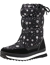 Shenji Zapatos de mujer de invierno - Botas de nieve Media Pierna Antideslizante H20612