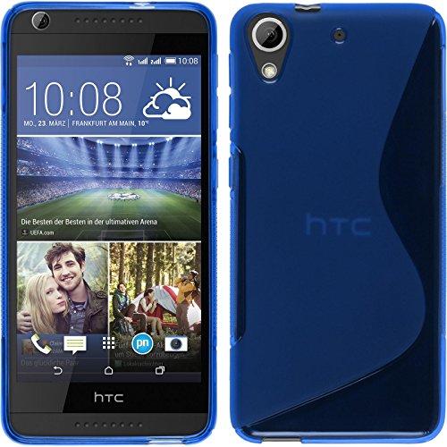 PhoneNatic Coque en Silicone pour HTC Desire 626 - S-Style Bleu - Cover Cubierta + Films de Protection