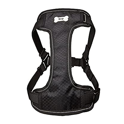Bunty Soft Comfortable Breathable Fabric Dog Puppy Pet Adjustable Harness Vest - Black - Small 5