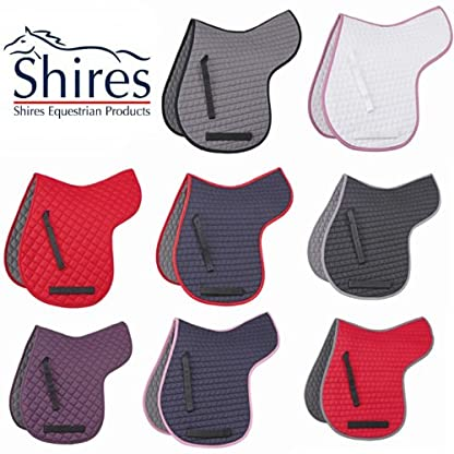 Shires Equestrian Horse Riding PAdded GP Showing Jumping General Purpose Saddle Cloth Numnah Pony Cob Full White Large 1
