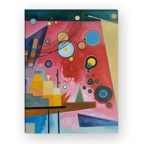 "Wandkings Leinwandbild ""Schweres Rot"" von Wassily Kandinsky / 30 x 40 cm / auf Keilrahmen"