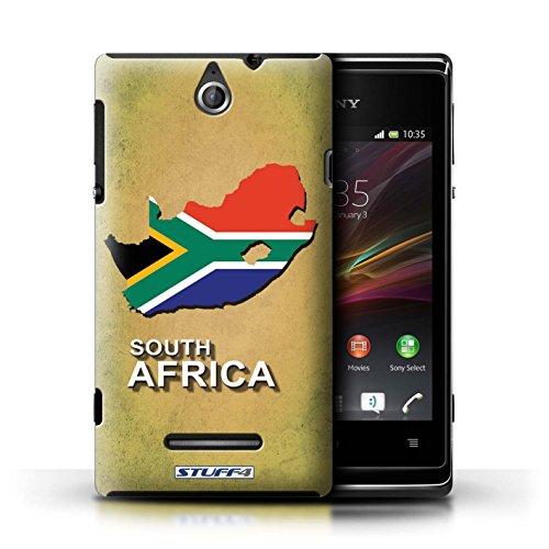 Kobalt® Imprimé Etui / Coque pour Sony Xperia E / Thaïlande/Thai conception / Série Drapeau Pays Afrique du Sud/Afrique