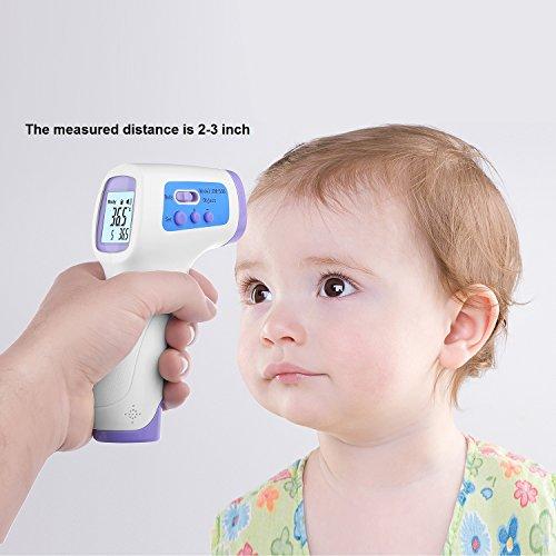 Digital Thermometer Infrarot Baby Stirn berührungslose Infrarot-thermometer Mit LCD Hintergrundbeleuchtung Erwachsene Termometro 1 Sekunde Messung