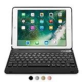 iPad Pro 9.7 / iPad Air 2 Hülle mit Tastatur, [NEU] COOPER KAI SKEL Q0 Bluetooth kabellose Tastatur tragbar Laptop MacBook Klappgehäuse Schutzhülle 14 Shortcut-Tasten für Apple iPad Air 2 / Pro 9.7 Schwarz