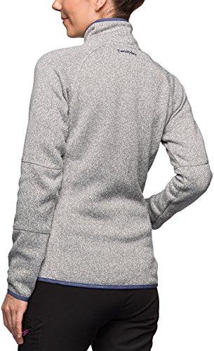 Twentyfour svalbard veste polaire femme en maille chaude Gris - Gris