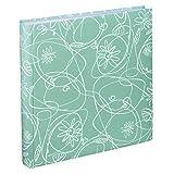 """Hama Fotoalbum """"Decori II"""" (Jumbo Album mit 100 weißen Seiten, für 400 Fotos im Format 10x15, Blumen-Ranken-Muster, 30x30) XXL Fotobuch Mint-grün"""