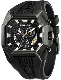 Police PL.13837JSU-02 - Reloj analógico de cuarzo para hombre, correa de silicona color negro