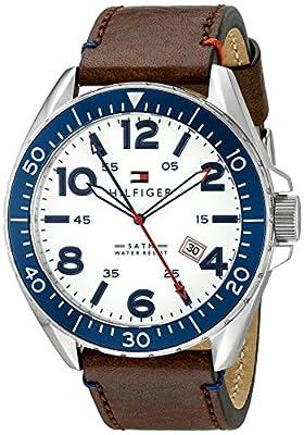 Tommy Hilfiger 1791132 - Reloj de Pulsera Hombre, Cuero, Color Marrón