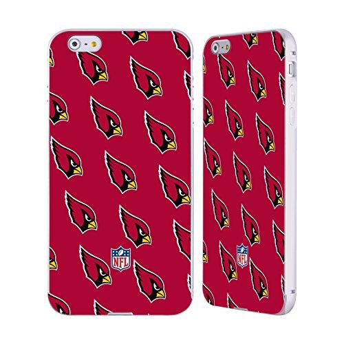 Ufficiale NFL Righe 2017/18 Arizona Cardinals Argento Cover Contorno con Bumper in Alluminio per Apple iPhone 5 / 5s / SE Pattern