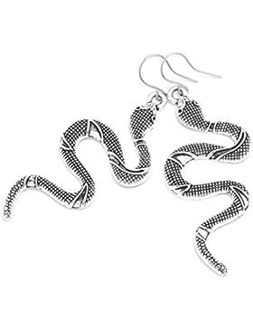 2LIVEfor Lange Ohrringe Schlange Silber Antik verziert Ohrringe Ethno Vintage Ohrringe Hängend Alt silber Style...