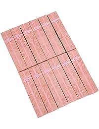 SODIAL(R) 12 x Caja de Regalo Largo Rosa para Reloj Colgante Joyas