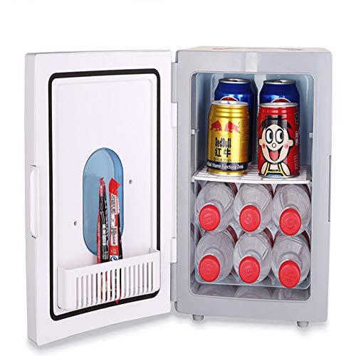 51In526qANL - JCDZSW Mini refrigerador 10L Caja de calefacción y refrigeración electrónica de Doble propósito para automóvil Familiar, refrigerador para la Piel, Alimentos, medicamentos, hogar y Viajes