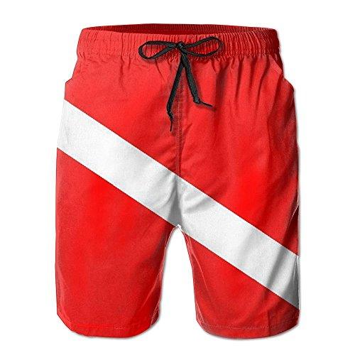 bikini bag Scuba Dive Flag Men's Summer Beach Boardshorts -