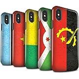 STUFF4 Matte Harten Stoßfest Hülle / Case für Apple iPhone X/10 / Pack 21pcs / Afrika Flagge Kollektion