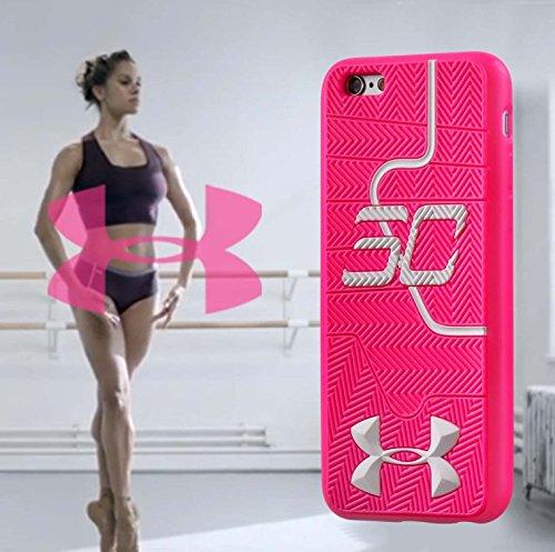 Stephen Curry Under Armour Chaussures Semelle Souple Coque pour Apple iPhone 6/6S rose