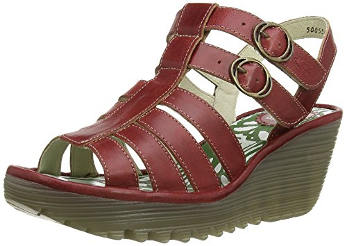 Fly London YGOR, Sandali donna Rosso (Rot (Red 002))