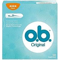 o.b. Original Super Tampons mit geschwungenen Rillen – Für zuverlässigen Schutz ideal für starke Tage – 56er Pack