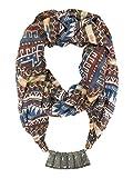 Vershaa Women's Necklace Scarf Multicoloured Printed (Polycotton | 100 x 180 cm)