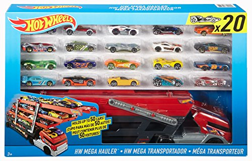 Hot Wheels Mega City set de transportador mas 20 coches / Vehículos