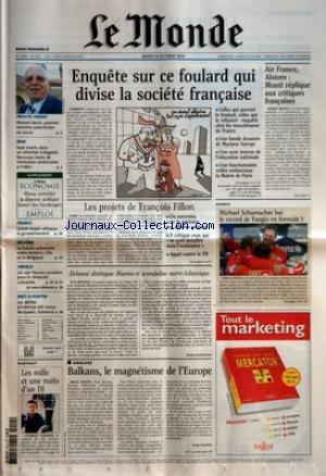 MONDE (LE) [No 18262] du 14/10/2003 - PROCHE-ORIEN...