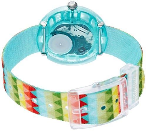 Flik Flak Mädchen Analog Quarz Uhr mit Stoff Armband FPNP015 - 2