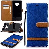iPhone 6 Hülle TXLING Denim PU Leder Flip Wallet Cover in Book Style Stand Case Card Slot Leder Tasche Case Karteneinschub und Magnetverschluß Kratzfestes für iPhone 6 -Blau