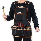 Tabliers porte-outils,LYPULIGHT Tablier de travail en solide avec fonction d'étanchéité, tenue souple et ventilée pour cuisine, jardin, poterie, artisanat, atelier, garage, et d'autres activités