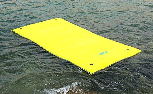 Materassino galleggiante inaffondabile quattro sei posti 350cm x 180cm x 3,5cm adatto per lago mare piscina