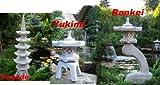 3 Stück... Pagode + Yukimi +  Rankei S japanische Steinlaterne Garten Laterne