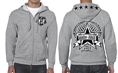 Street Hoodie Ramirez Dirty East Aufdruck Herren Wear Original Hooded mit Motiv (L, Grau)