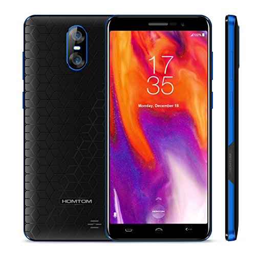 "HOMTOM S12 - 5,0"" 3G Smartphone, 18:9 Infinity Display, Android 6.0 Quad Core 1GB+8GB, 3-Kamera 8MP+2MP & 5MP, Dual SIM, Entsperrt Handy"