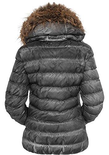 TB619 Ladies Spray Dye Winter Jacket Damen Jacke Winterjacke Black