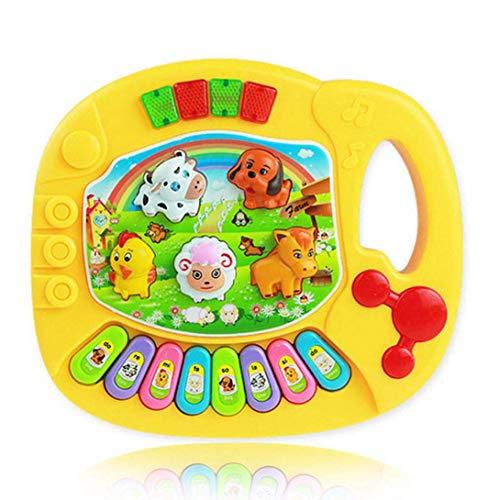 FUdeza Super Neu Musical Bildungs Tier- Piano Entwicklungsbiologie Musik Spielzeug für Kinder Cartoon Spielzeug - Cp5031b Gelb Beutel