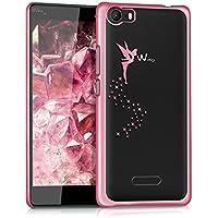 kwmobile Elegante y ligera funda Crystal Case Diseño Hada para Wiko Fever 4G en rosa fucsia transparente