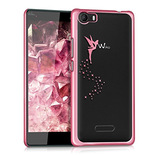 kwmobile Wiko Fever 4G Hülle - Handyhülle für Wiko Fever 4G - Handy Case in Pink Transparent