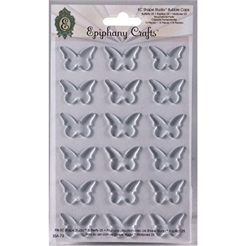 Epiphany Crafts Plastic Clear Bubble Caps-Butterfly 25, 15/Pkg by Epiphany Crafts -