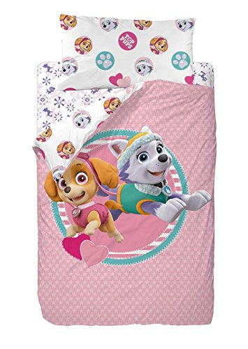 viacom-paw-patrol-good-friends-copripiumino-in-poliestere-200x-90x-25cm-colore-rosa