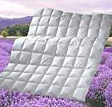 Revital Sommer Daunendecke 240x220, 220x240 Sommer Bettdecke, 600g weiße 90% poln. Daunen Wärmeklasse 1 (240x220)
