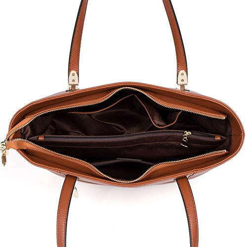 41d36ce8db033 ... BOSTANTEN Handtaschen Damen Leder Umhängetasche Schultertasche Shopper  Tasche Grün Braun