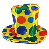 BESTOYARD Payaso Sombrero Circo Lunares Sombrero Carnaval Disfraces Disfraces Accesorio