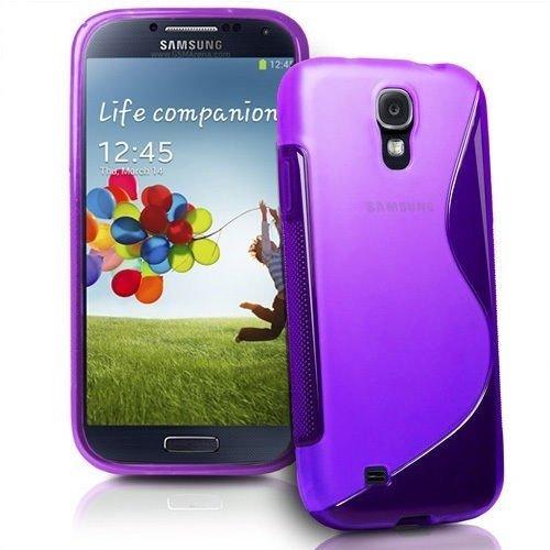 EASYPLACE, Custodia Protettiva Morbida S-Line di Silicone TPU Viola per Samsung S4 Mini