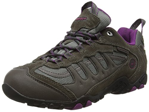 Hi-Tec Damen Penrith Low Waterproof Trekking-& Wanderhalbschuhe Grau (Charcoal/purple)