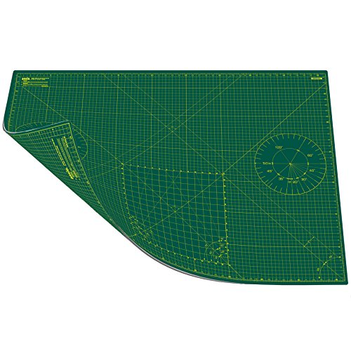ANSIO A1 Double Sided Self Healing 5 Layers Cutting Mat Imperial & Metric 34 Inch x 22.5 Inch/89cm x 59cm (Green/Green) Test