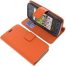Funda para Doro Liberto 820 Mini estilo libro naranja protectora