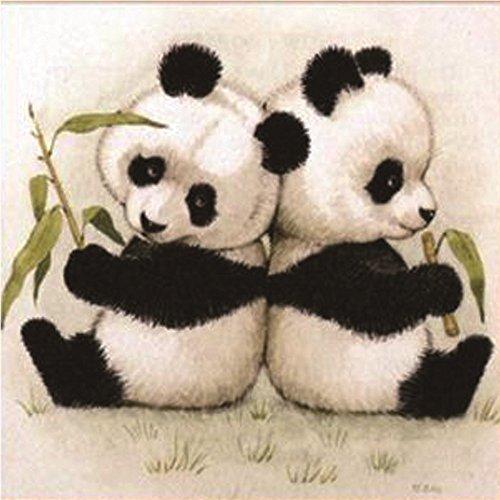Jkhhi Chinesischer Panda 5d Muster Diamant Stickerei Malerei Mosaikherstellung Diamond Painting Gemälde Strasssteine Eingefügt Kreuzstich für Wohnkultur -