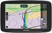 TomTom Via 62 Europe Traffic Navigationsgerät (15 cm (6 Zoll), Sprachsteuerung, Bluetooth Freisprechen, Fahrspurassistent, 3