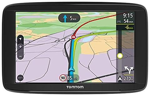 TomTom Via 62 Europe Traffic Navigationsgerät (15 cm (6 Zoll), Sprachsteuerung, Bluetooth Freisprechen, Fahrspurassistent, 3 Monate Radarkameras (auf Wunsch), Karten von 48 Ländern Europas) (Navi Sprachsteuerung)