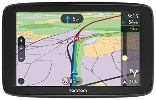 TomTom Via 62 Europe Traffic Navigationsgerät (15 cm (6 Zoll), Sprachsteuerung, Bluetooth Freisprechen, Fahrspurassistent, 3 Monate Radarkameras (auf Wunsch), Karten von 49 Ländern Europas)