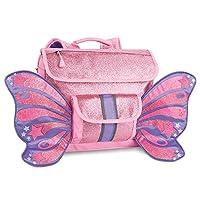 Bixbee Kids Backpack School Bag Sparkalicious Glitter Butterflyer, Pink, Small